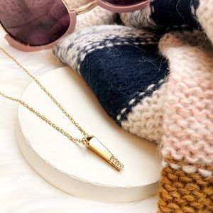 Rebecca Minkoff Gold Crystal Spike Dainty Necklace